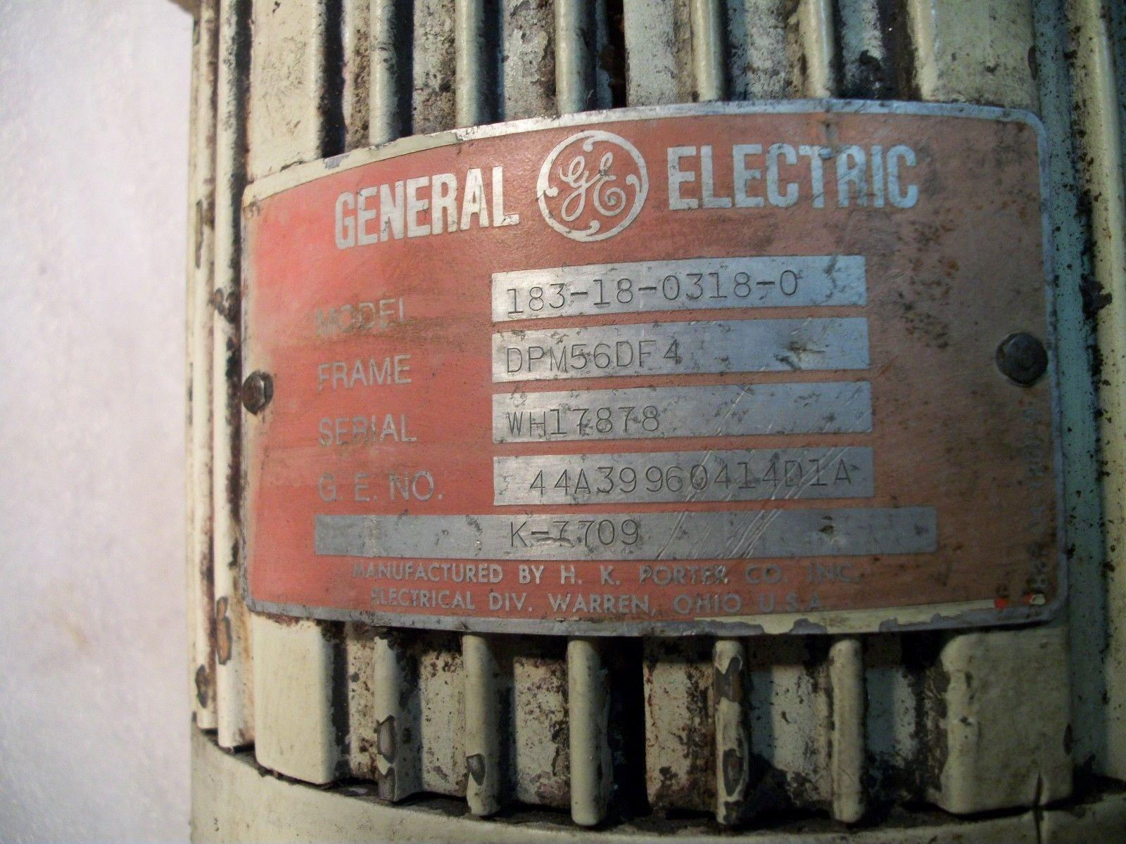 GE Servo Motor 183-18-0318-0 GE# 44A39960414D1A Frame DPM 56DF4