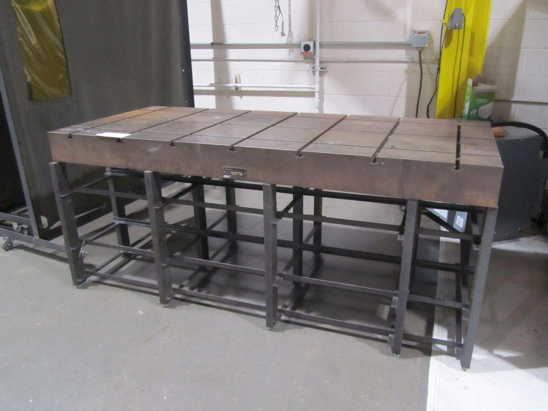 """36"""" X 84"""" CHALLENGE PRECISION T SLOTTED SET UP TABLE. STOCK # 0848021"""