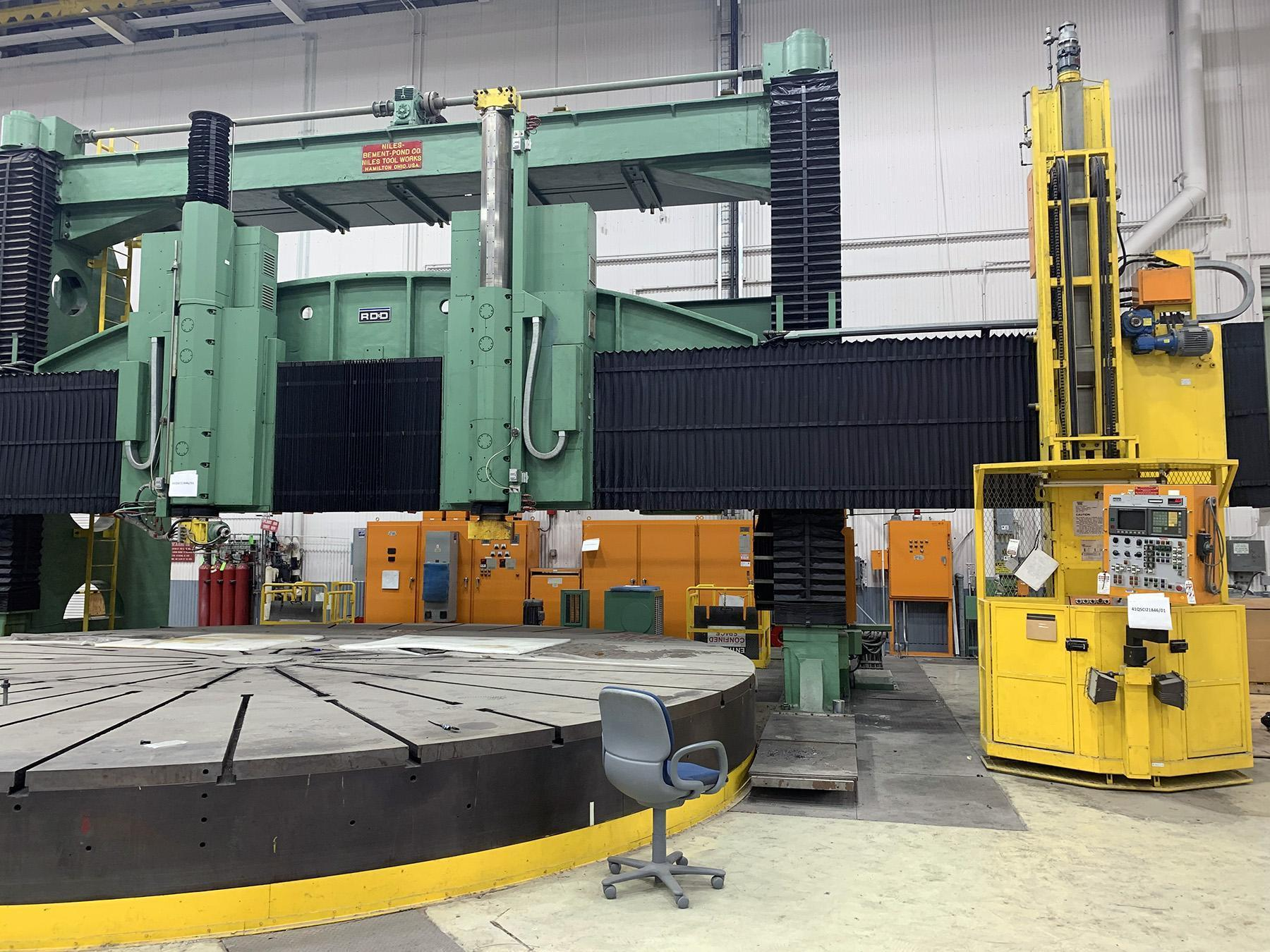 """USED, 504"""" (42') DORRIES SCHARMANN (RD&D) CNC VERTICAL BORING MILL WITH LIVE TOOL"""