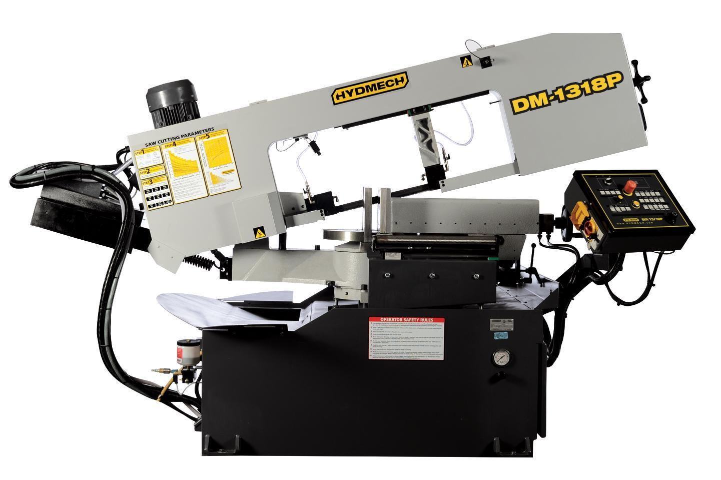 "NEW 13""H x 17-3/4""W HYD-MECH MODEL DM-1318P DOUBLE MITER BAND SAW"