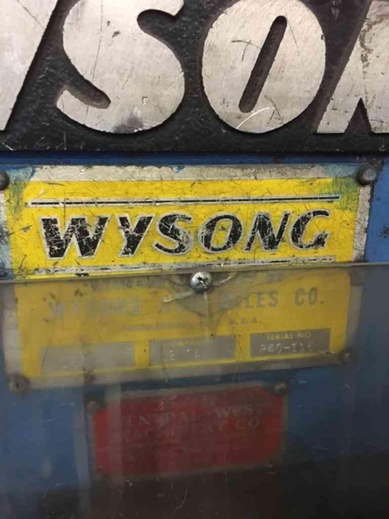 "0.105"" x 2' Wysong Power Sq. Shear"