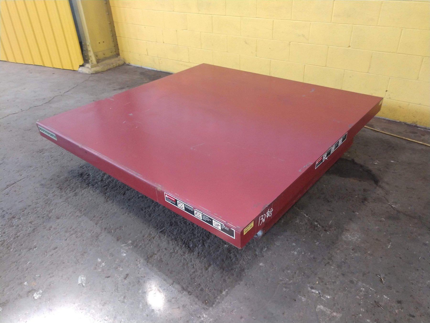 2,000 LB 6' x 6' ELECTRIC SCISSOR LIFT TABLE