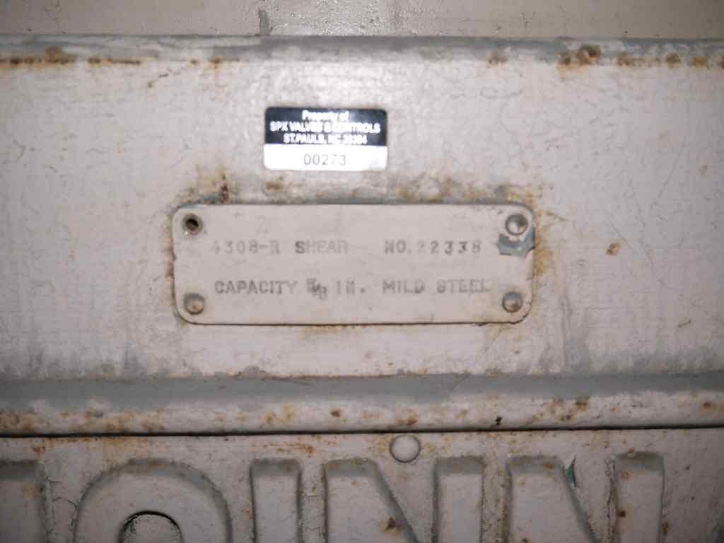 "0.625"" x 8' Cincinnati Power Sq. Shear"