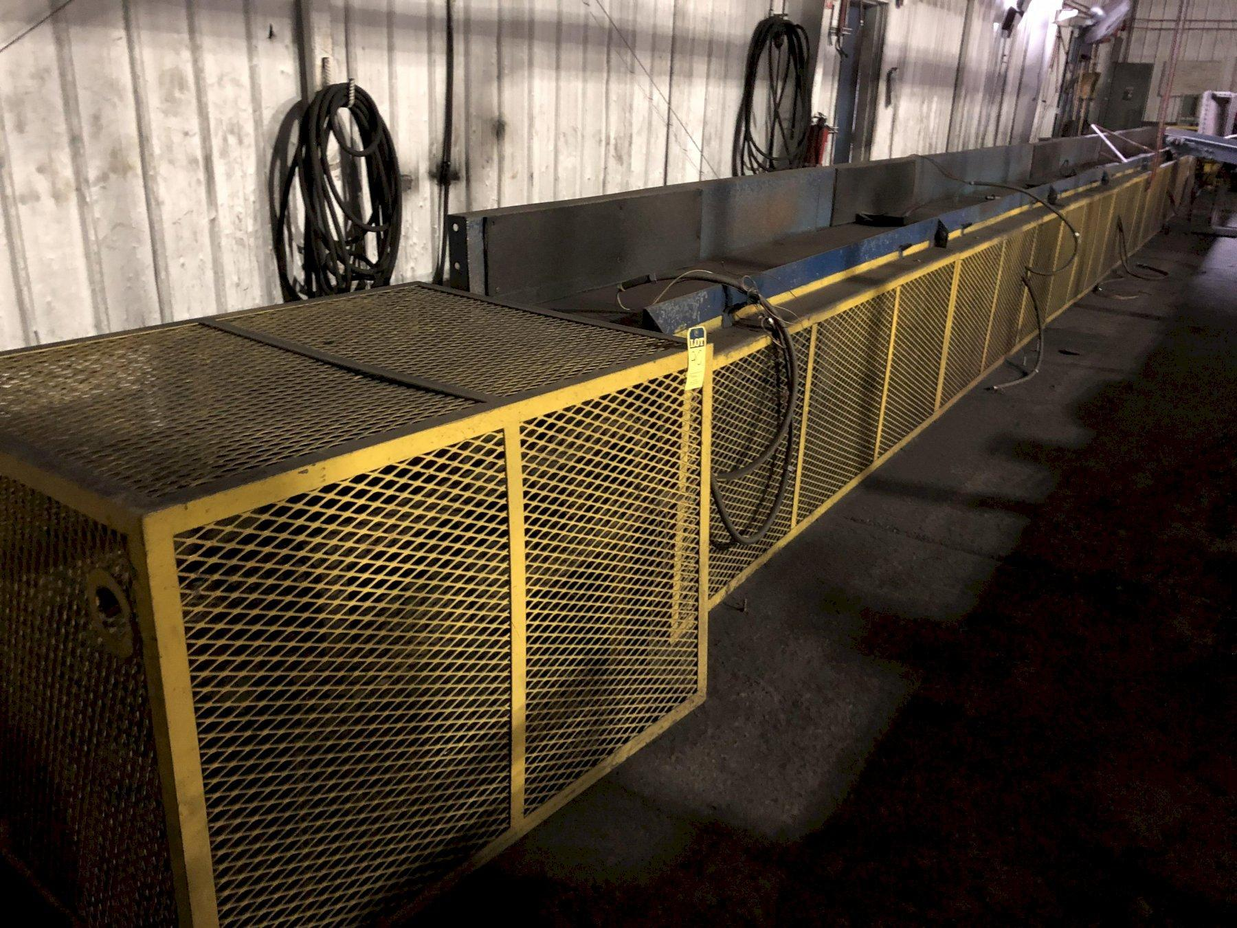 """24"""" X APPROX. 80 FLAT CASTING BELT CONVEYOR WITH DRIVE"""