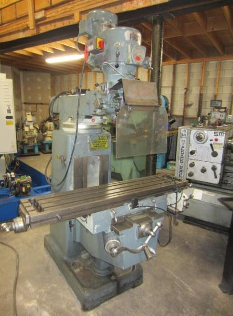 "10"" x 50"" First LC185VS Vertical Turret Milling Machine"
