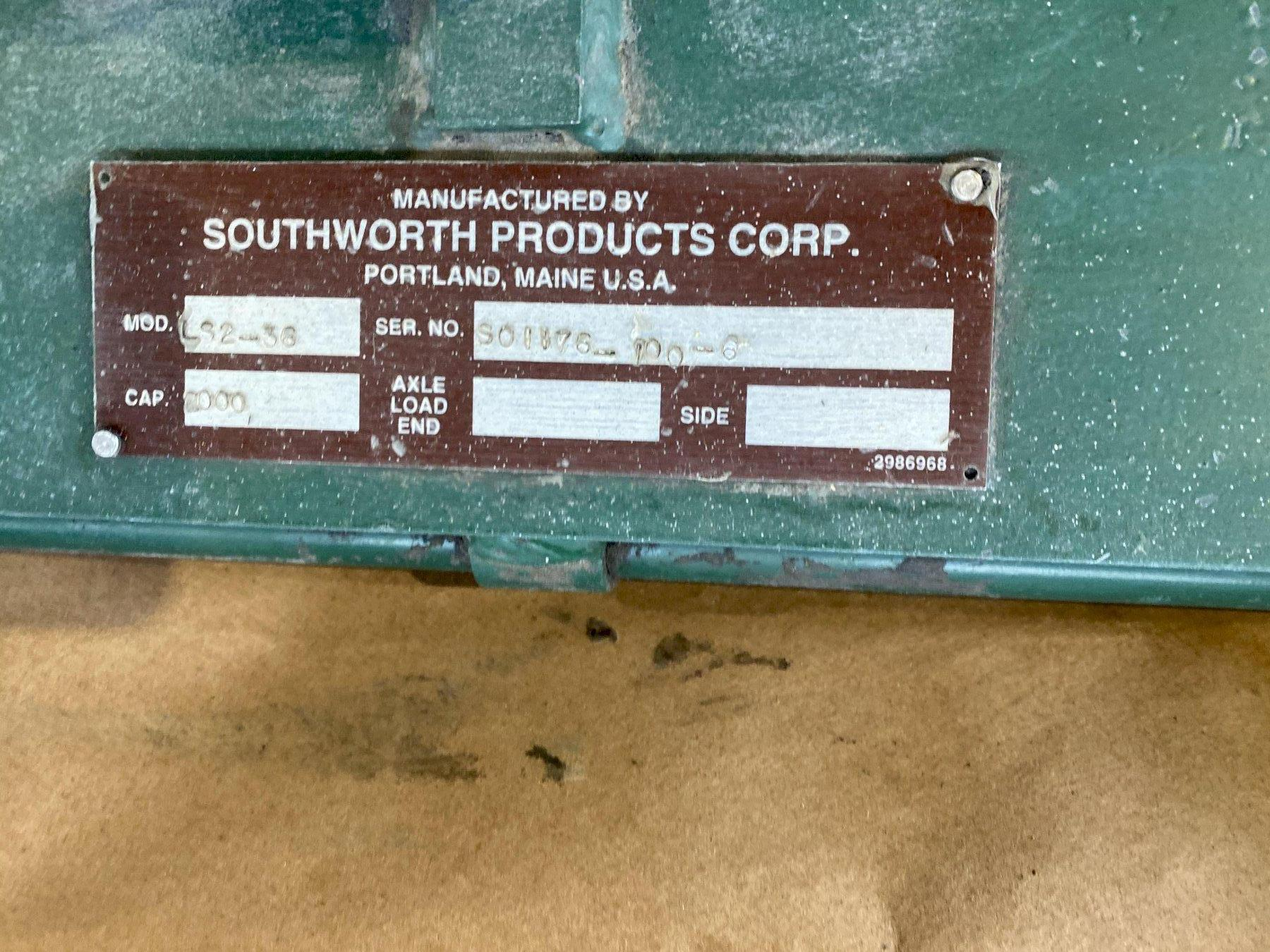 "2,000 LB 24"" X 48"" SOUTHWORTH PRODUCTS LIFT TABLE. STOCK # 0630020"