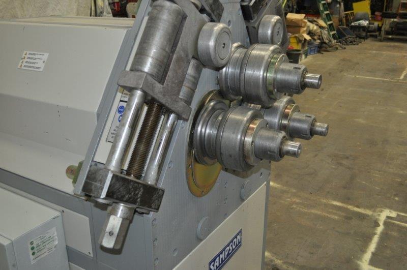 """2.5"""" SAMPSON MODEL HPK-65 VERTICAL ANGLE BENDING ROLLS"""
