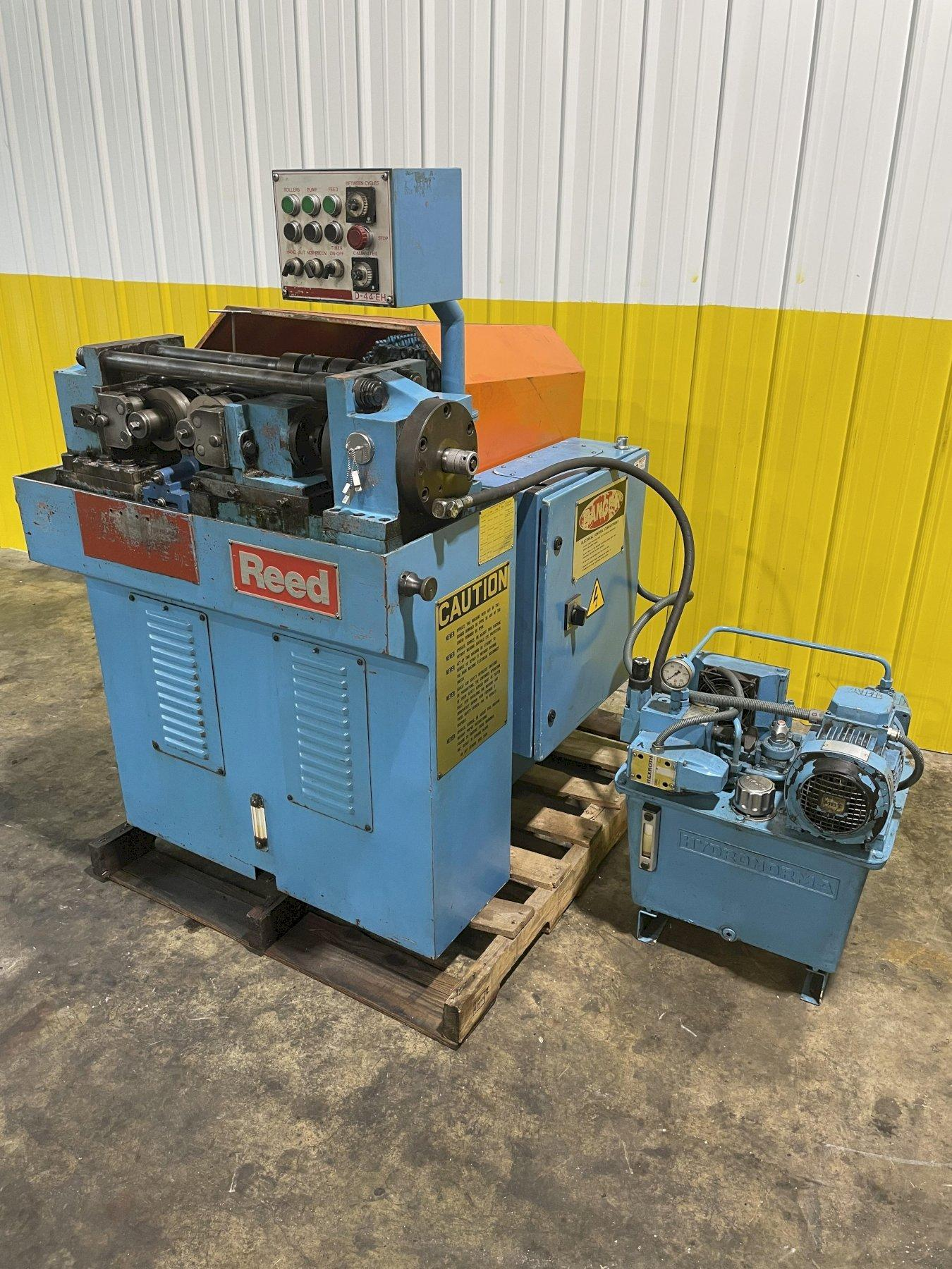 """1-1/2"""" REED MODEL #D44EH 2-ROLL HYDRAULIC HORIZONTAL THREAD ROLLER: STOCK #14936"""