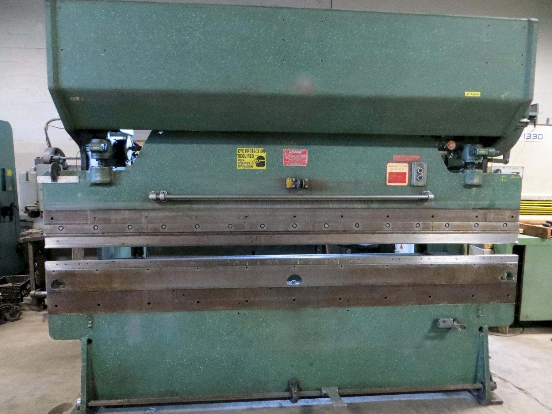 55 Ton x 10 ft Chicago D&K Mechanical Press Brake Model 810-B