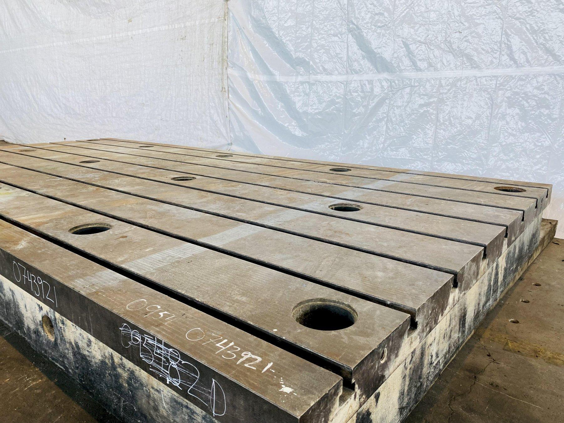 """79"""" x 157"""" X 12"""" SABIEM SYSTEM CAST PRECISION T-SLOTTED FLOOR PLATE. STOCK # 0954820"""