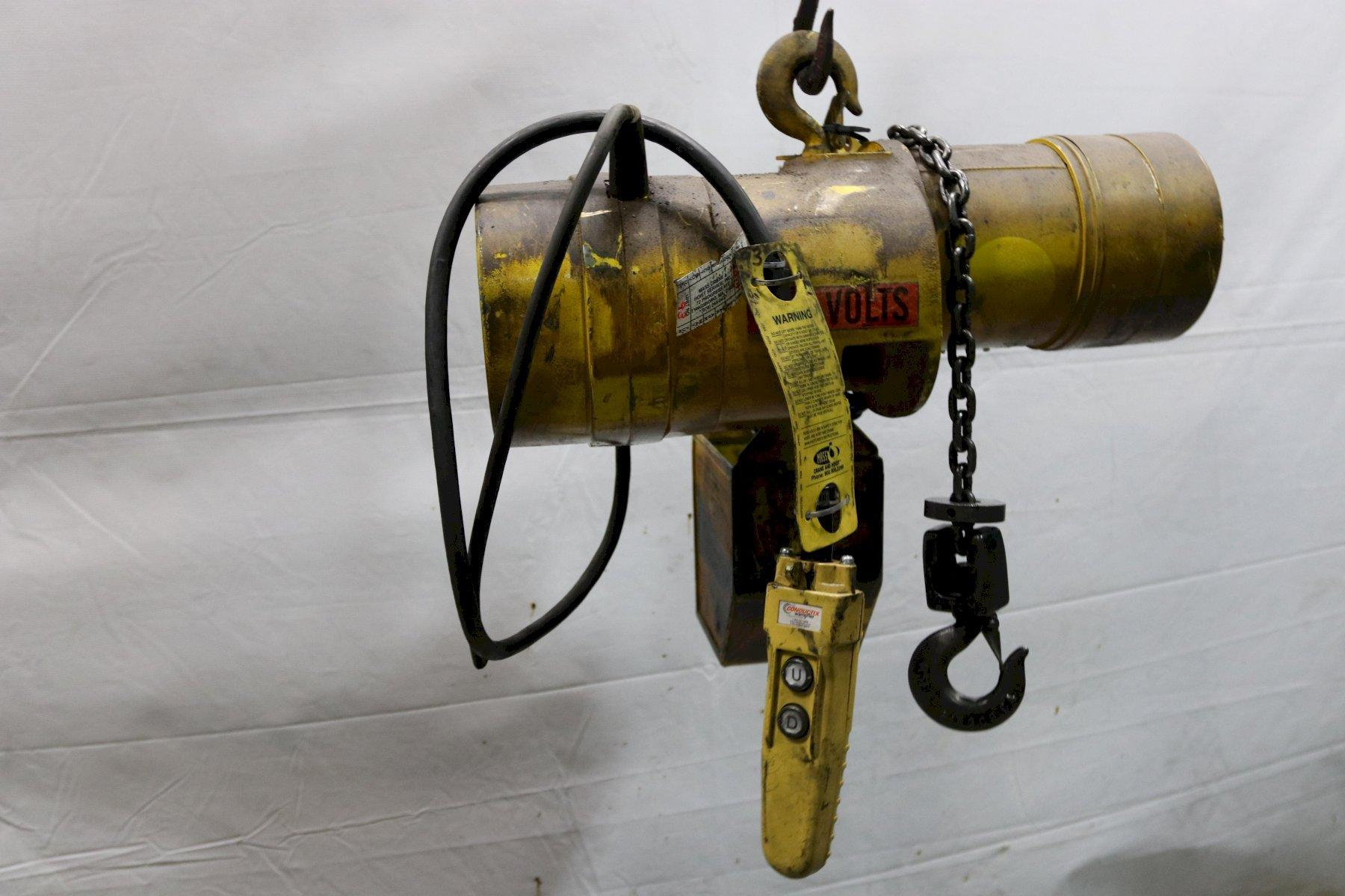 500 LB BUDGIT ELECTRIC POWERED CHAIN HOIST: STOCK #11975
