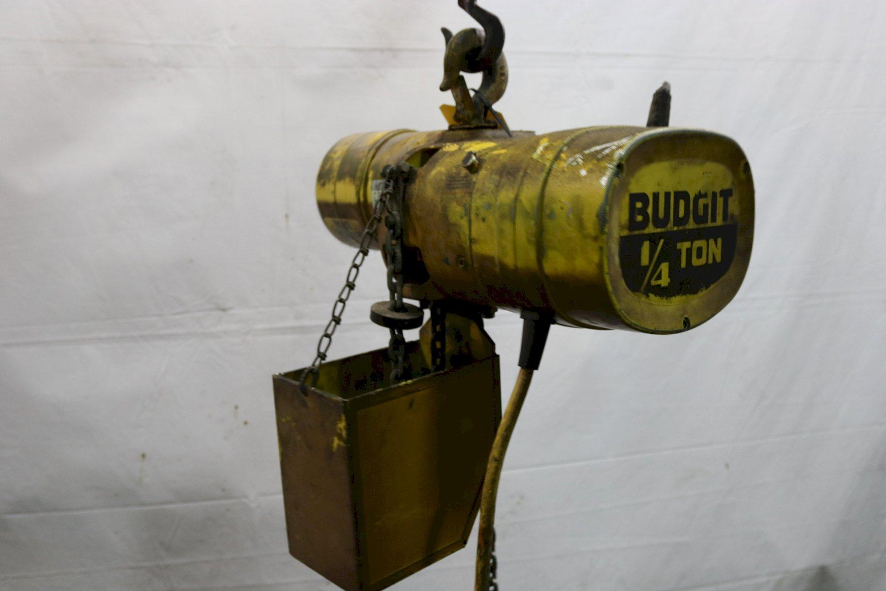 500 LB BUDGIT ELECTRIC POWERED CHAIN HOIST MODEL #116887-3: STOCK #11979