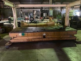 1 - PREOWNED ECDA HYDRAULIC SCISSOR LIFT TABLE 4 ft X 12 ft