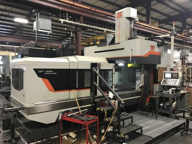 Vision Wide SF3116 CNC Double Column Bridge Style Vertical Machining Center, Fanuc 0i Control, 122