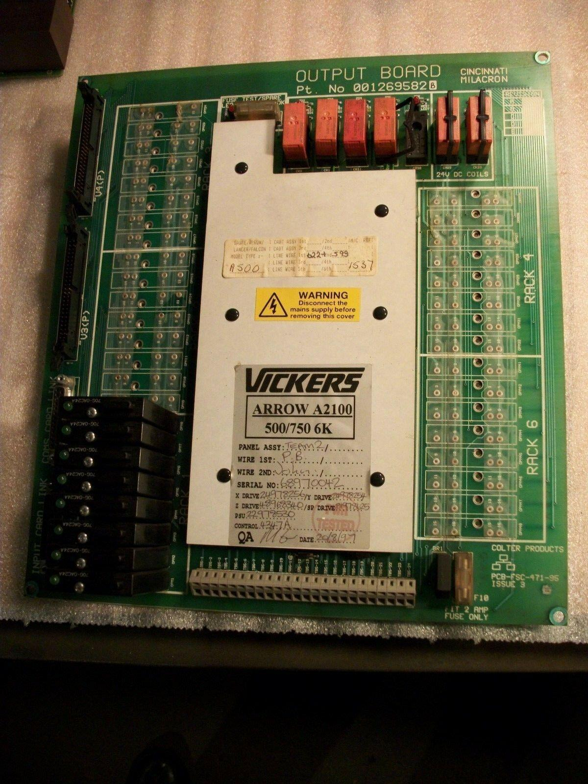 Cincinnati Siemens Acramatic 2100 CNC Output Board 1269582B