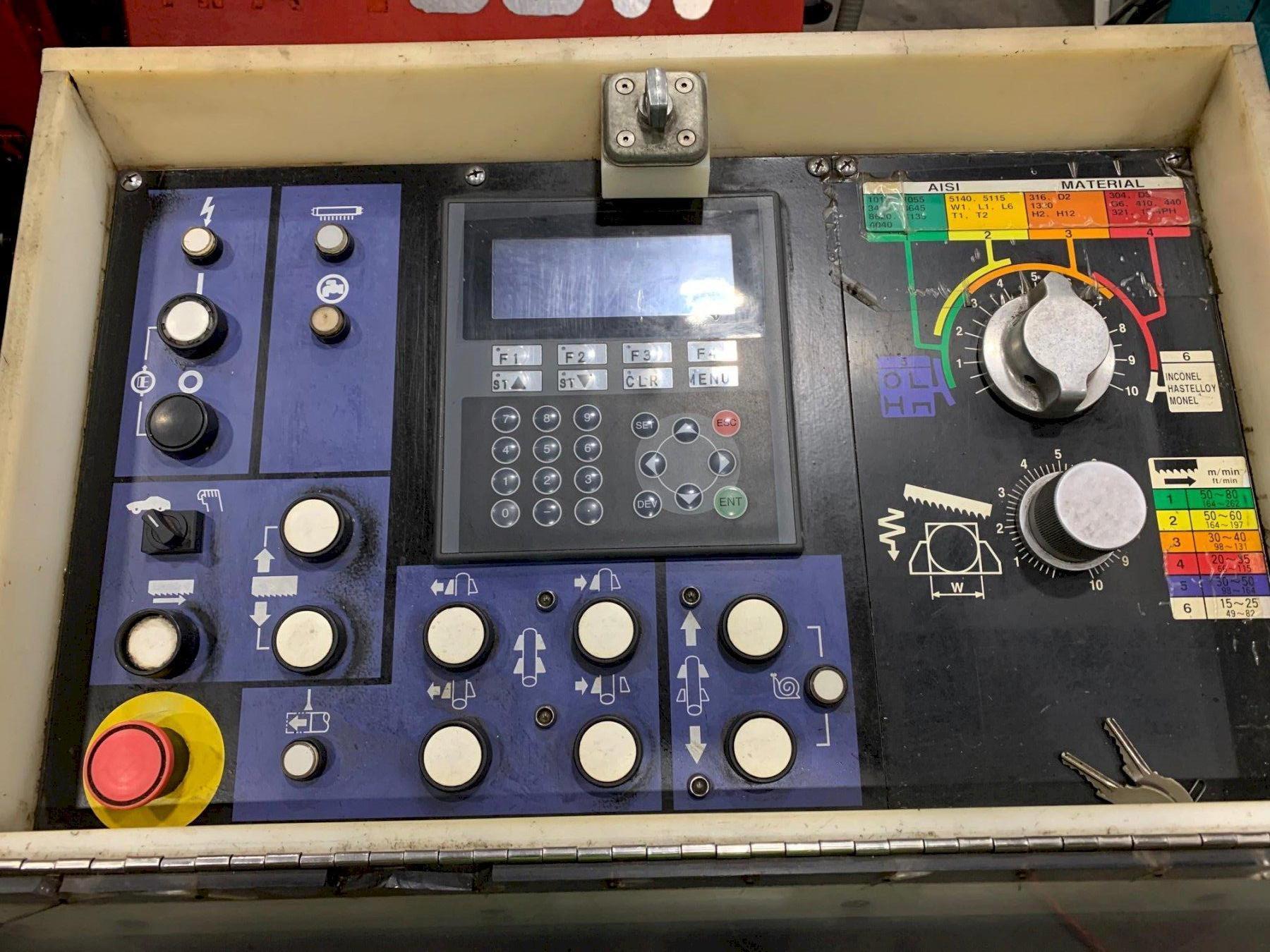 "USED AMADA MODEL HFA-400W 16"" X 16"" AUTOMATIC CNC HORIZONTAL BANDSAW, Stock # 10752, Year 2004"