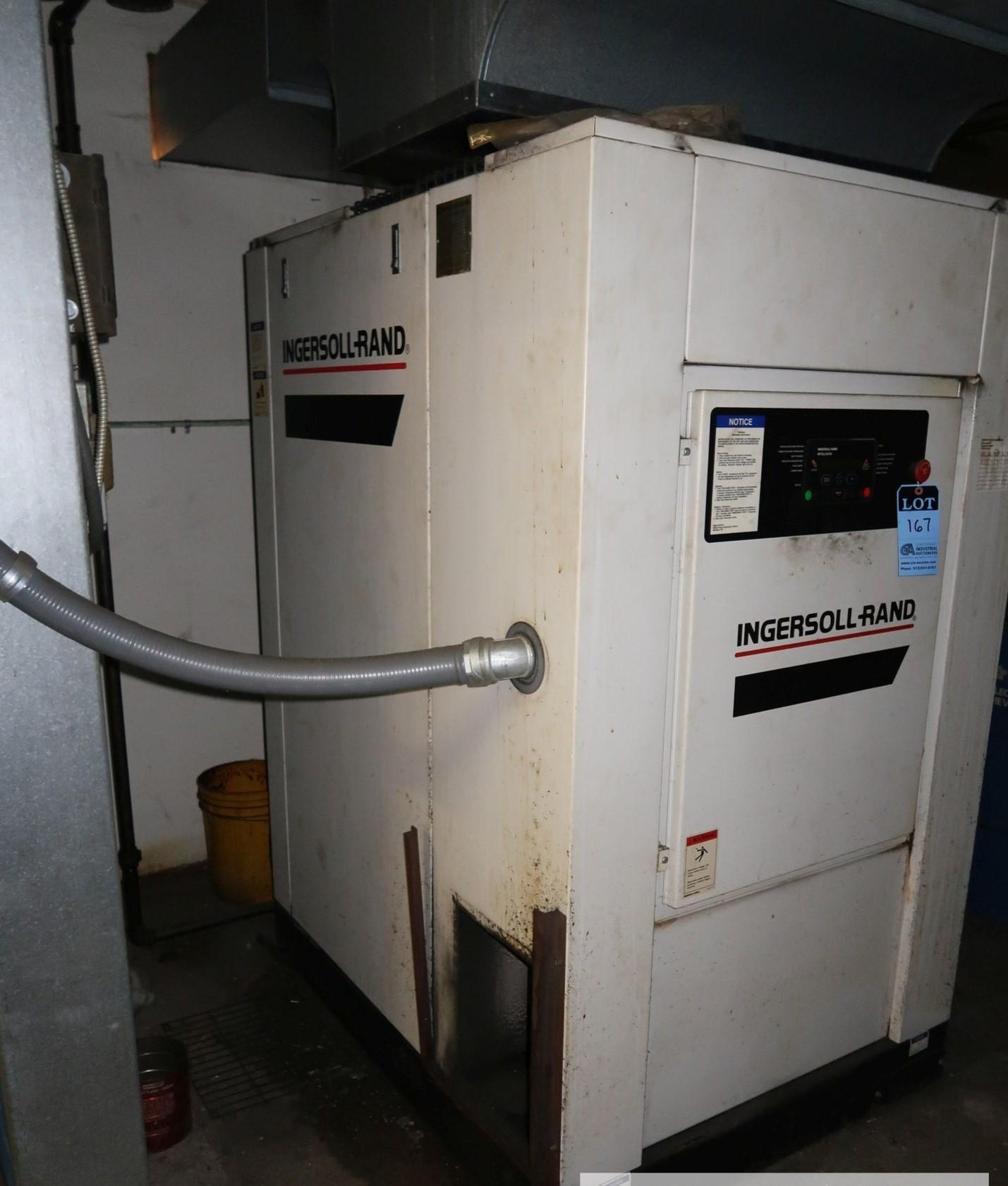 50-HP INGERSOLL RAND MODEL SSR-EP50SE AIR COMPRESSOR; S/N G7348U98307, 125 PSIG