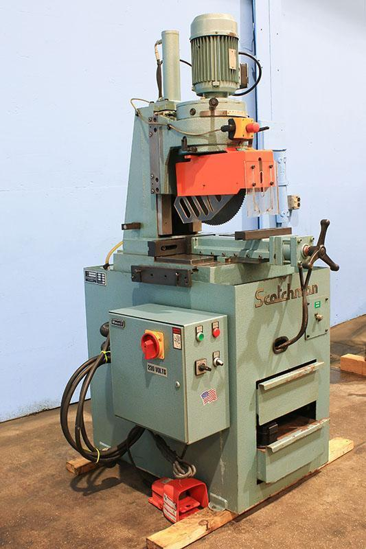 14'' Max. Blade Dia. Scotchman Model CLM350/LT COLD SAW, Semi-Automatic, Hydraulic Vise & Head