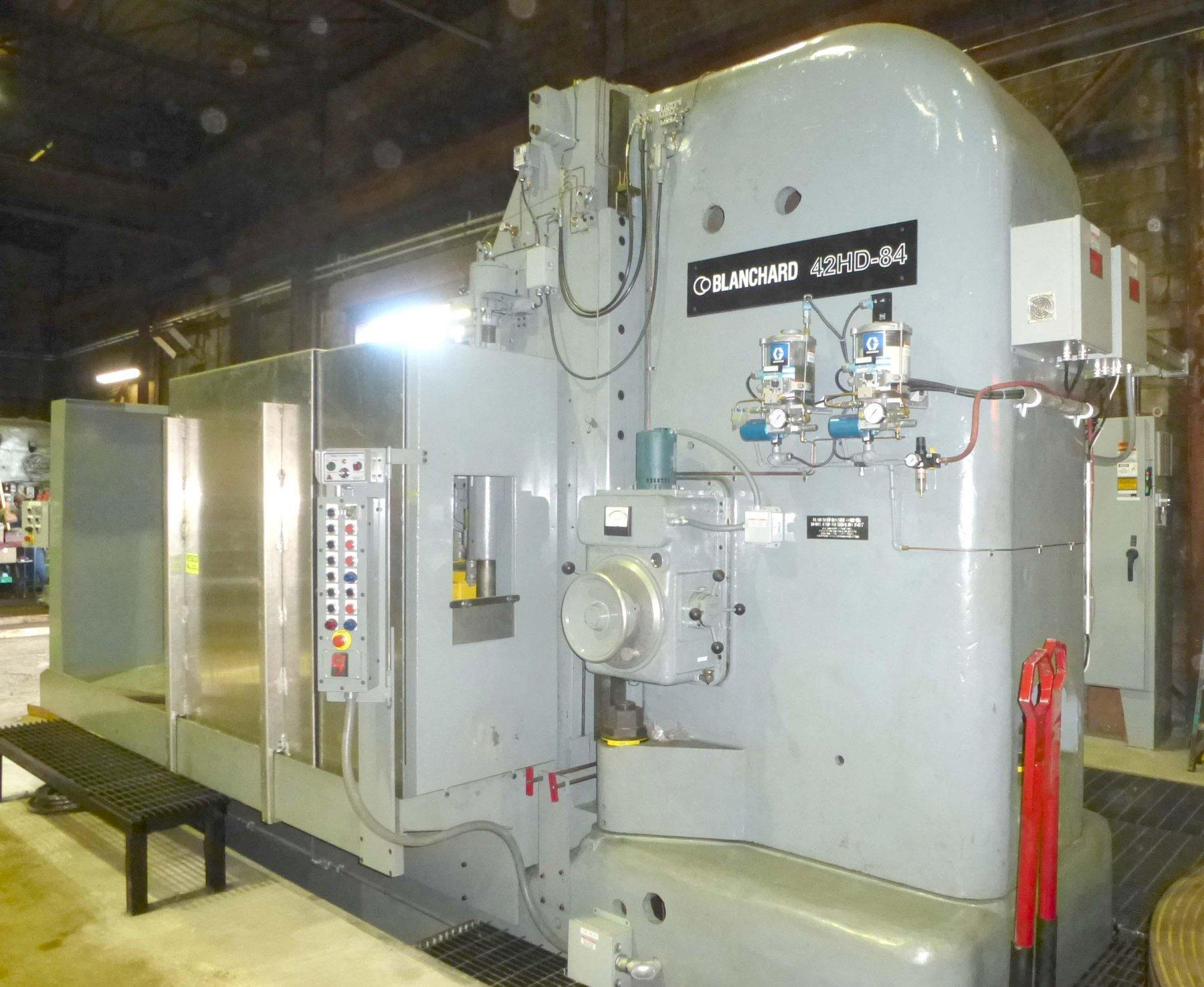 Blanchard #42HD-84, 84″ Geared Head Vertical Spindle Rotary Surface Grinder,
