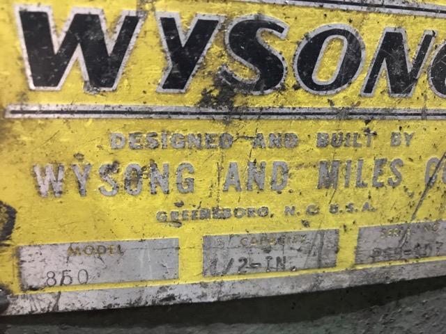 """8' x 1/2"""" Wysong Shear"""