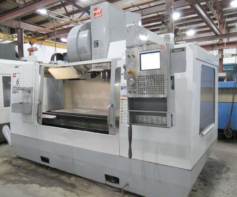 "HAAS VF-6/50, Haas CNC Control, 64"" x 28"" Table, X=64"", Y=32"", Z=30"", Cat-50, 10,000 RPM, 4th Pre-wire, 30 Station Side Mount Tool Changer, New 2006."