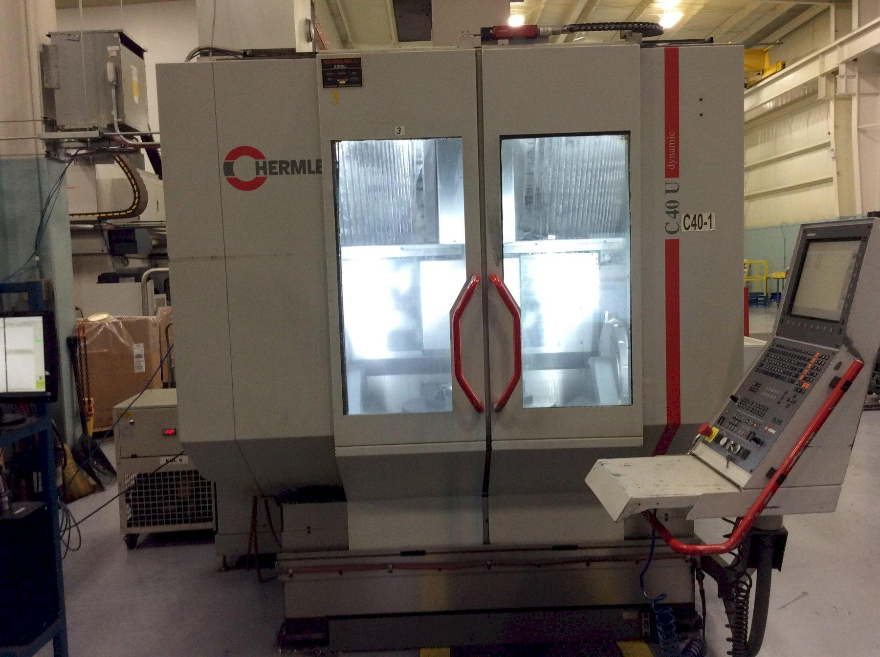 "Hermle C-40U 5-Axis CNC Vertical Machining Center, Heidenhain, 29.5"" Dia Table, 31.5""/31.5""/19.6"" Travels, 18K Spindle, 38 ATC, CTS, Chiller, HSK-63, 2006"