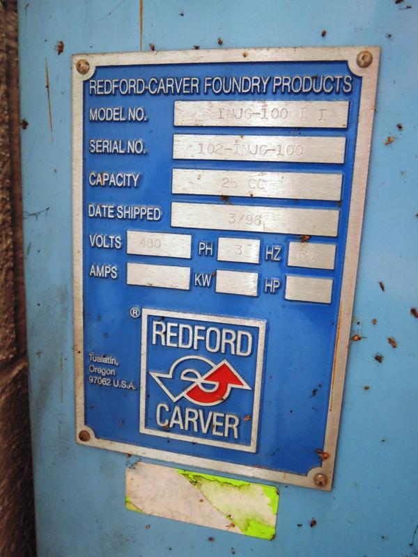 REDFORD MODEL INJG-100 GASSING CABINET S/N 102