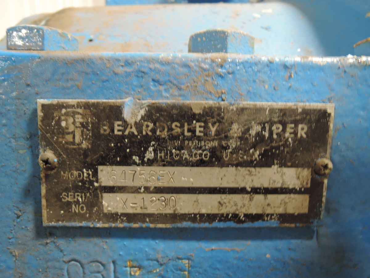 B&P MODEL 64756EX  100B GEAR BOX S/N: X- 1230 FOR 200 HP VIDEO OF GEARS AVAILABLE