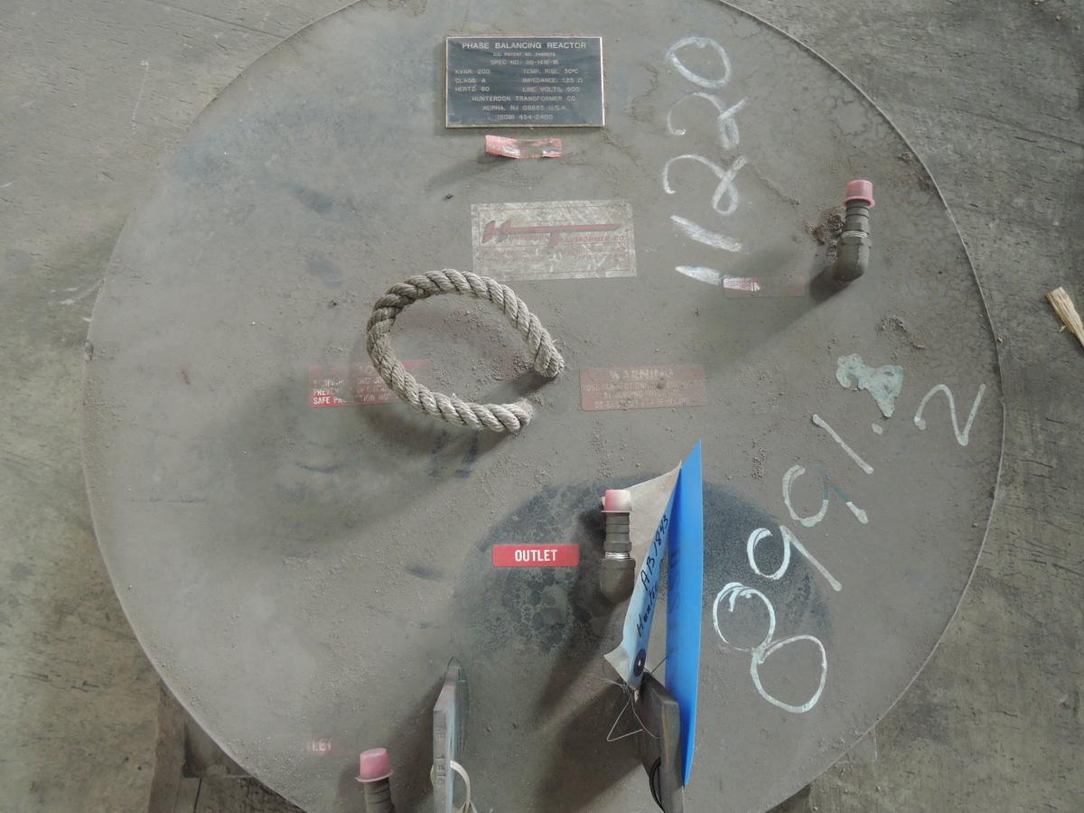 Hunterdon FURNACE REACTOR SPEC NO: BB-1416-1R 200 KVAR 60 HZ 500 LINE VOLTS
