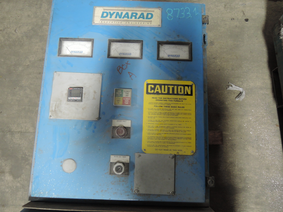 DYNARAD 700# ELECTRIC RESISTANCE MELTING FURNACE WITH CONTROLS AND WATLO ELEMENTS