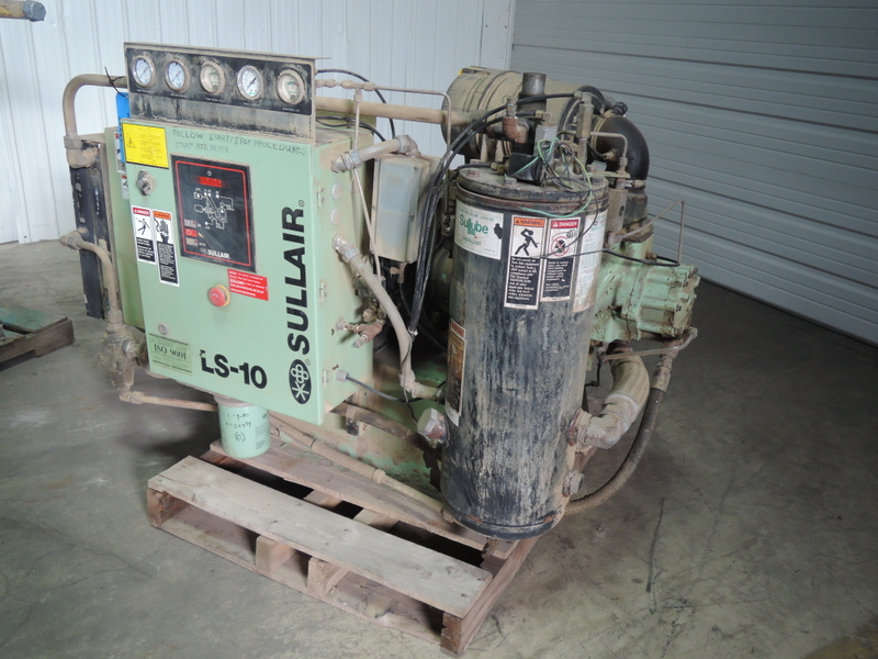 SULLAIR ROTARY SCREW AIR COMPRESSOR MODEL LS-10 HP 40 VOLTS 230/460