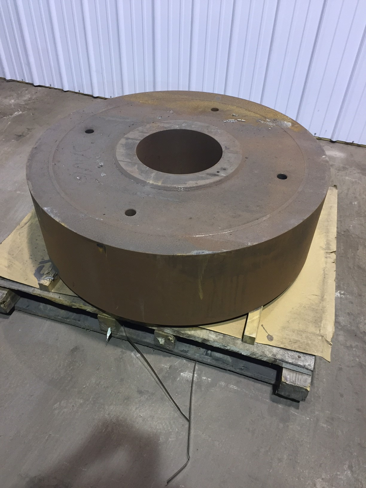 """NEW SIMPSON 3F MULLER WHEEL  413/4"""" DIA    FACE 12 1/2""""              CENTER DIA 12 1/4""""  PRICED AT 70% NEW COST"""