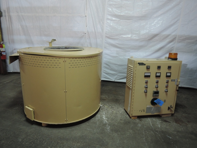 THERMTRONIX MODELRS650 650# ELECTRIC RESISTANCE MELTING FURNACE S/N 961361 WITH CONTROLS, 75KW, 1996, RATED AT 400# PER HOUR