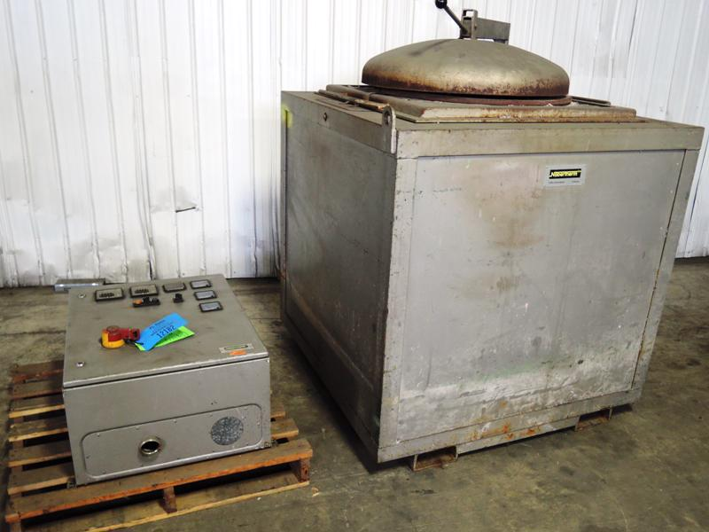 1988 NABORTHERM MODEL T150/90 90 KW ELECTRIC RESISTANCE MELTING FURNACE S/N 73532, RATED TO 1200 DEGREE C, 575 VOLTS WITH CONTROLS TAG# 12182