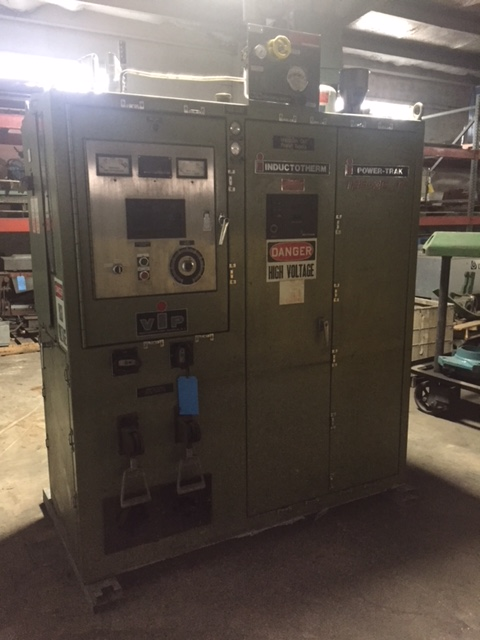 1992 INDUCTOTHERM MODEL 125-30R 3200 HZ POWER-TRAK 125 KW POWER SUPPLY S/N 92-58575-246-11 WITH TWO SWITCHES, GROUND LEAK