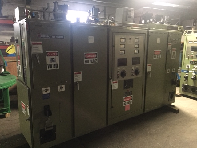 1996 INDUCTOTHERM MODEL 75-30R DUAL TRAK 75 KW 625 HZ POWER  SUPPLY S/N 96I-65882-246-11, CIRCUIT BREAKER, GORUND LEAK, INTERNAL WATER PUMP