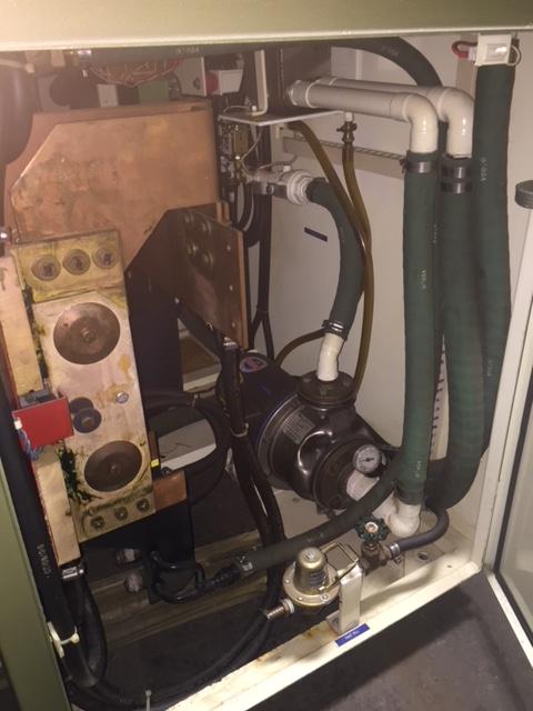 1996 INDUCTOTHERM MODEL 75-30R DUAL TRAK 75 KW 625 HZ POWER  SUPPLY S/N 96I-65882-246-11, CIRCUIT BREAKER, GORUND LEAK, INTERNAL WATER PUMP