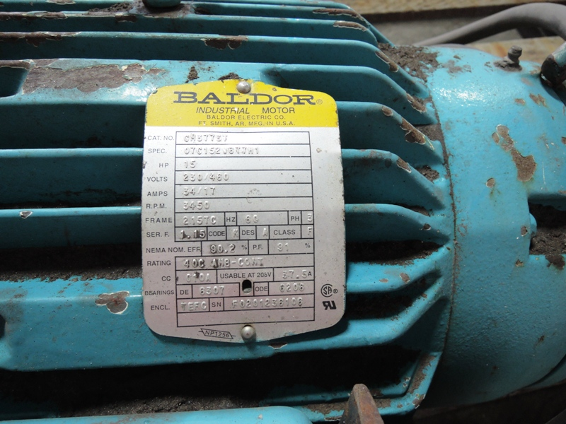 """FOX MODEL 1090 -125S 12"""" RIGHT ANGLE  SWING GRINDER 15HP S/N7026702"""
