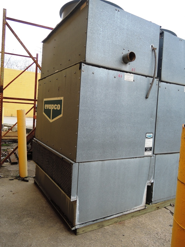 EVAPCO MODEL ICT 4-96 COOLING TOWER S/N 994568, 5 HP , 15,500 CFM, 202.5 GPM