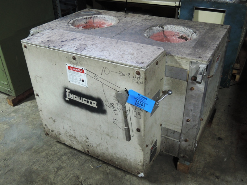INDUCTOTHERM 125-70  DOUBLE PUSH FURNACE CRUCIBLE UNIT S/N 83177