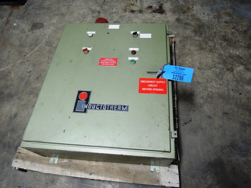 WATER SYSTEMS CONTROL CABINET FOR TAG 12292  INDUCTOTHERM MODEL 125-30R 3200 HZ POWER-TRAK 125