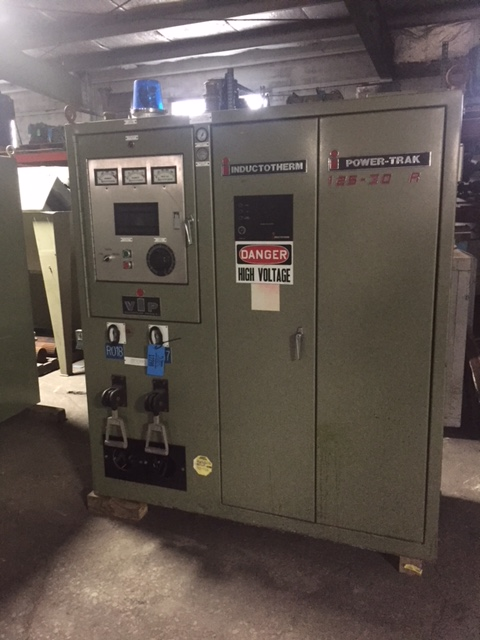 INDUCTOTHERM MODEL 125-30R 75KW POWER TRAK POWER SUPPLY S/N 93-15050-246-11 RATED AT 3200HZ. WITH TWO SWITCHES, GROUND LEAK