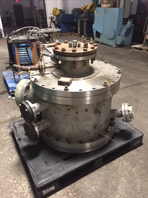"1996 OCEAN STATES TECHNHICAL SERVICES STAINLESS STEEL VACUUM CHAMBER 34"" DIAMETER NATIONAL BOARD RATED, 150 PSI AT 350, NB-3,"