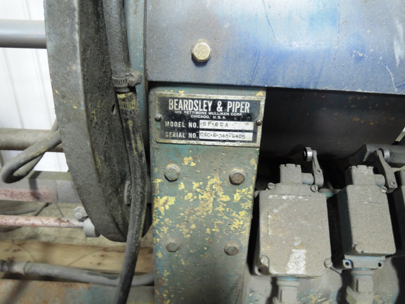 B AND P MODEL SF6CA SHELL CORE MACHINE S/N CSC-SF6-348-6405 WITH CONTROL PANEL