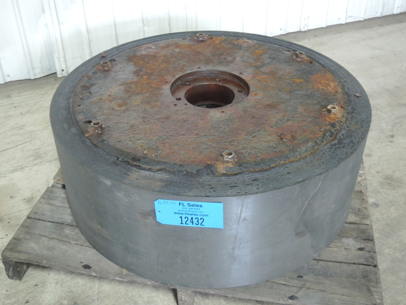 "MULLER WHEEL FOR SIMPSON 2.5G MULLER RECOATED WITH STEEL 13"" FACE, 37.5"" DIAMETER OD, 6"" HOLE, 9.5"" FLANGE HOLE"