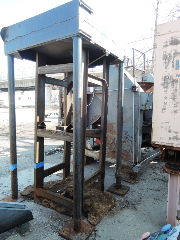 "SAND HOPPER  AND  STAND 51"" X 51"" 90""  HOPPER48""X48'X54"