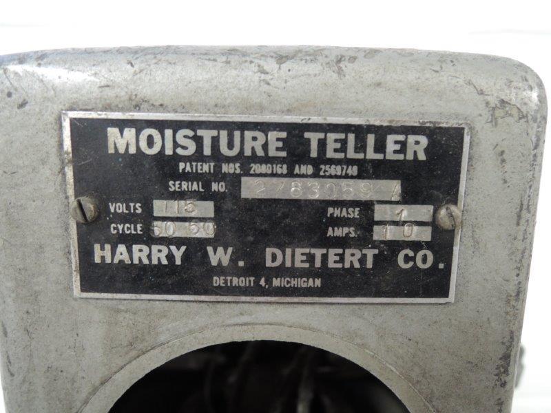 DIETERT MODEL 276 MOISTURE TESTER S/N 6322