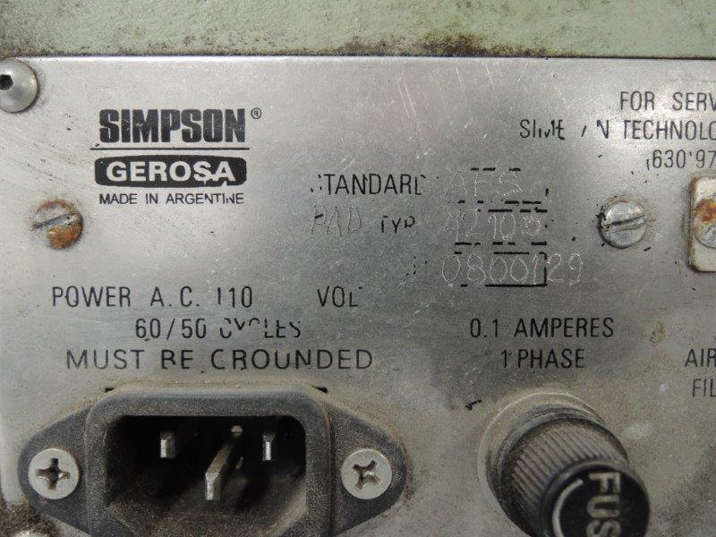 SIMPSON GEROSA MODEL 42105 PERMMETER S/N 800129
