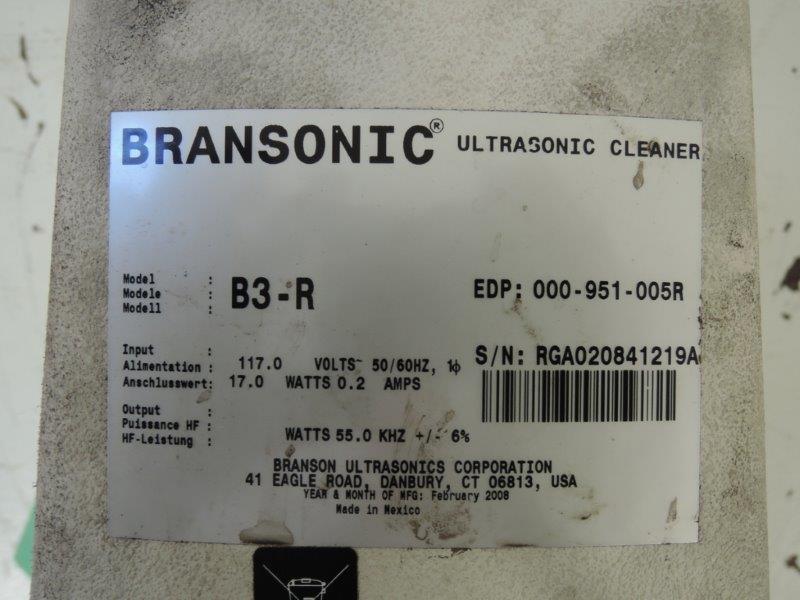 BRANSON MODEL B3- R ULTRASONIC CLEANER