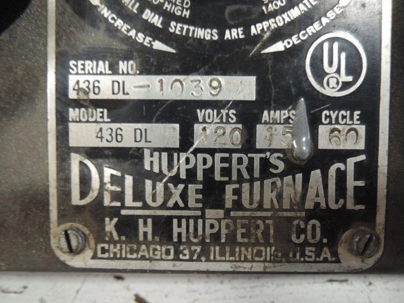 K.H. HUPPERT CO. MODEL 436 DL LAB OVEN S/N: 1039